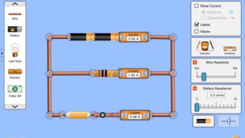 电路组建实验:直流虚拟实验室